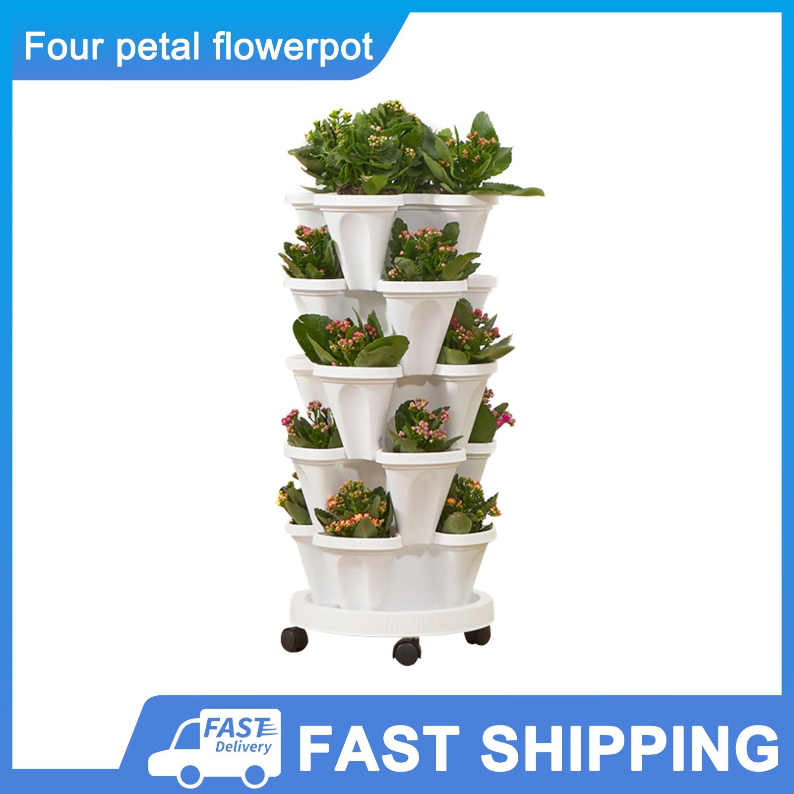 Стеклянный стереоскопический цветочный горшок, Пластиковый Штабелируемый вертикальный цветочный горшок для сада, дома, рекламная акция