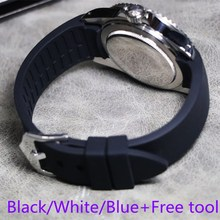 Men's Women White Black Blue Waterproof Curved silicone rubber Watchband 18mm 20mm 22mm  For Casio Tissot Omega Watch band Strap 18mm 20mm 22mm watchband black rubber sport wrist men silicone military diving watch strap band for casio g shock accessories