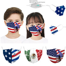 Cotton Mask Face-Shield National Halloween Cosplay Adjustable Flag for Ear-Straps Child