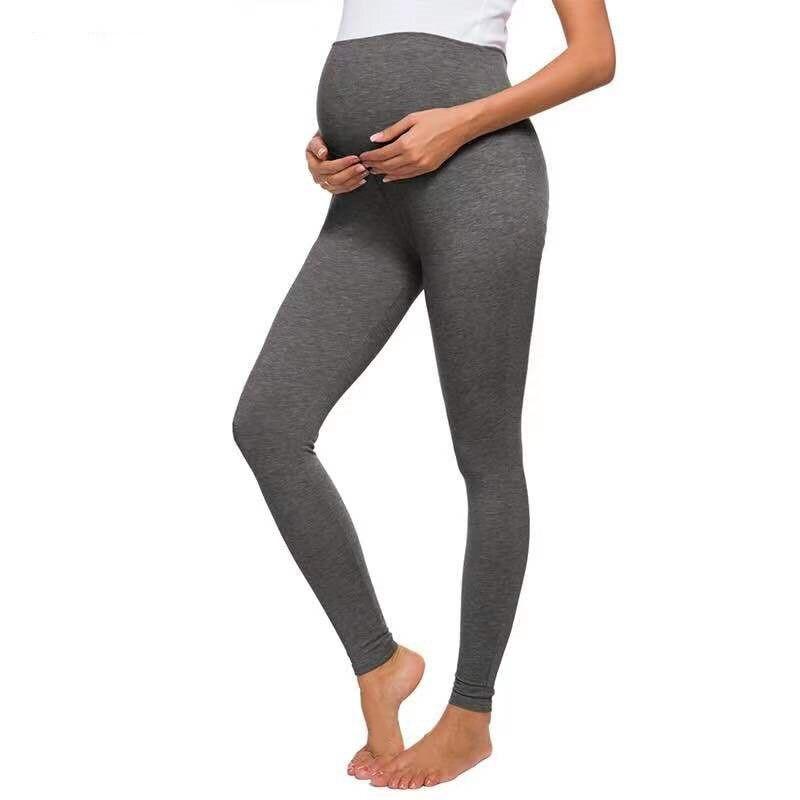 Calças para grávidas mulheres grávidas cor sólida