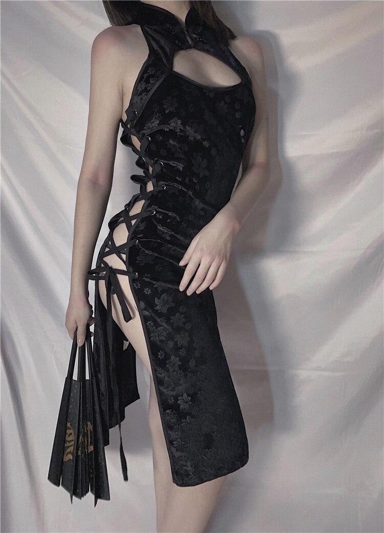大人女子に♡エロい 編み上げ チャイナドレス