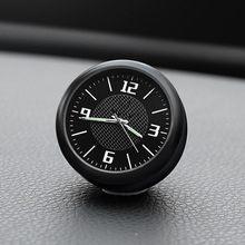 Accesorios para decoración interior del salpicadero del coche, logotipo del reloj para Toyota Camry Highlander Yaris Venza Corolla RAV4 C-HR Prius Avalon