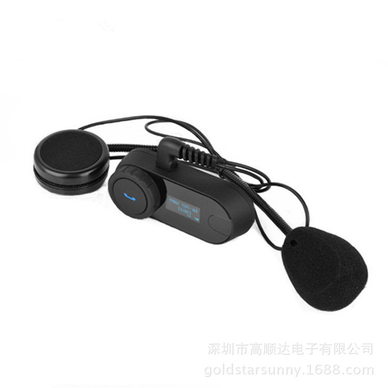 Plug Motorcycle Helmet Bluetooth Headset Full Dual Function Bluetooth Walkie-Talkie With Led Display Bluetooth