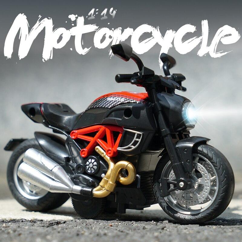 1:14 liga motocicleta modelo de brinquedo esporte corrida moto crianças jogar brinquedos diecast estrada corrida modelo coleção para o presente do miúdo liga