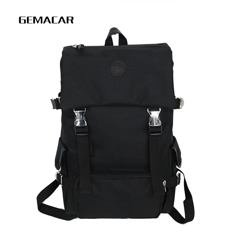 Trend Backpack Couple Large Small Men And Women Bagpack Black Gray Red Vacation Multi-function Rucksack School Bag Fashion
