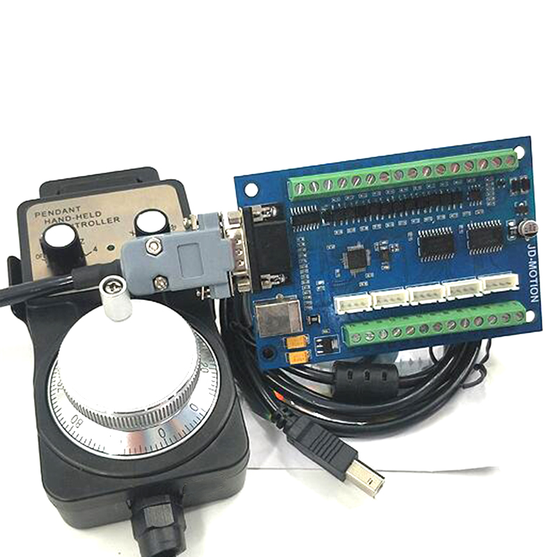 Carving Machine CNC Motion Control Card 5-Axis Interface Board MACH3 Interface Board USB Interface Board With Handwheel