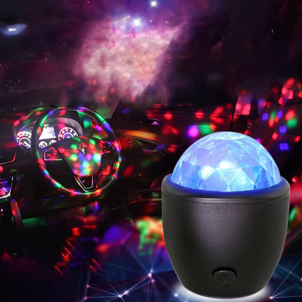 Mini LED Party Lights For Home Sound Activated Rotating Crystal Magic Ball Christmas KTV Wedding Bar Stage Lights DJ Disco Light