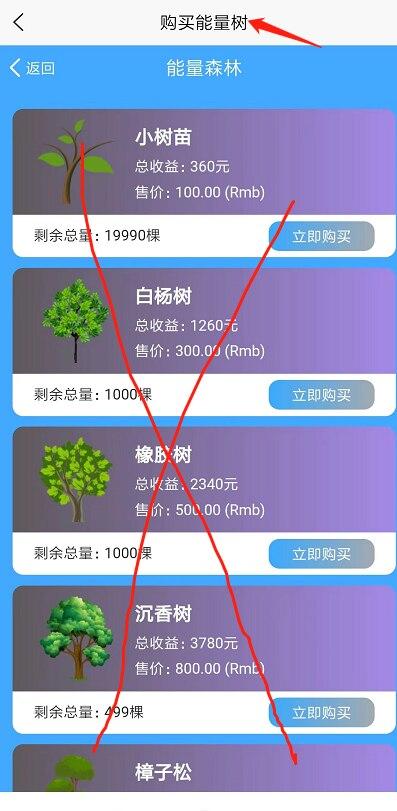能量森林:今天12点-17点注册送价值100元树、每天可以收益8元?插图(2)