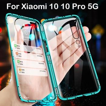 Magnetic Case For Xiaomi 10 Pro 5G Coque CC9 Pro Note 9S MAX3 MIX2S 6X X3 Metal Bumper Redmi Note 8 8T 7 8A K30 K20 Case Glass
