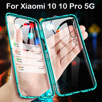 Magnetic Case For Xiaomi 10 Pro 5G Coque CC9 Pro Note 9S MAX3 MIX2S 6X X3 Metal Bumper Redmi Note 8 8T 7 8A K30 K20 Case Glass
