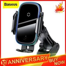 Baseus צ 'י רכב אלחוטי מטען עבור iPhone 11 Samsung Xiaomi 15W אינדוקציה רכב הר מהיר אלחוטי טעינה עם רכב טלפון בעל