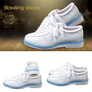 White Bowling Shoes for Men Women Unisex Sports Beginner Bowling Shoes Sneakers FDX99