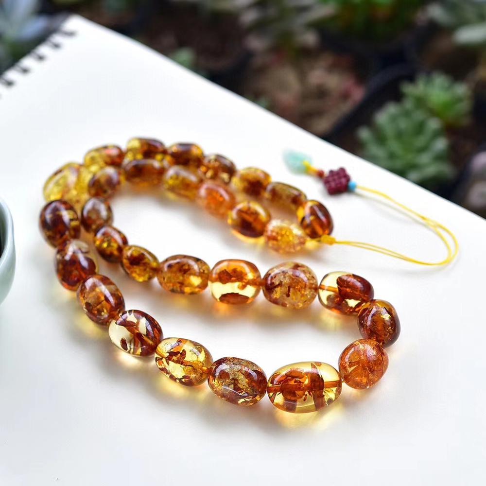 Certificate Natural Piebald Amber Yellow Gemstone 22x11mm Barrel Beads Big Size Woman Healing Stone Necklace 9-15mm AAAAA