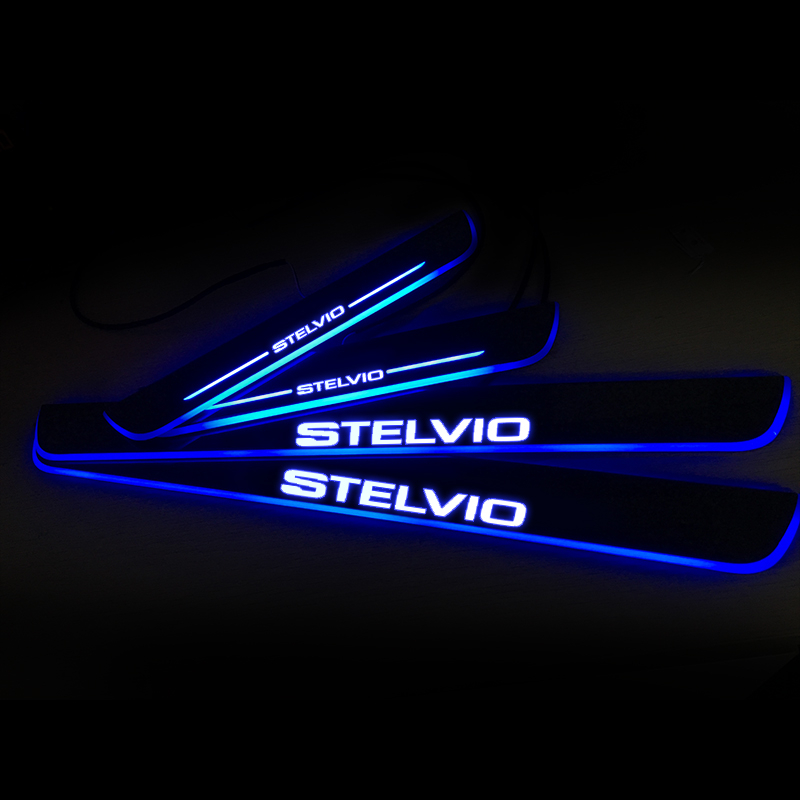 LED Door Sill Streamed Light For ALFA ROMEO STELVIO 949 2016-2020 Scuff...