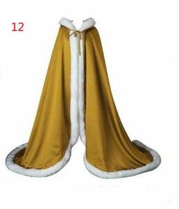 Image 5 - ויקטוריאני כלה קייפ Elves קייפ סאטן חתונה גלימת סלעית עם פו פרווה לקצץ חג המולד קייפ בעבודת יד מימי הביניים גלימה
