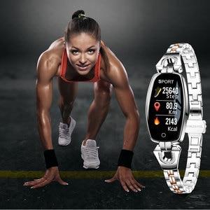 Image 3 - H8ผู้หญิงสมาร์ทนาฬิกาHeart Rate Monitorความดันโลหิตสมาร์ทIP67กันน้ำกิจกรรมฟิตเนสTrackerสร้อยข้อมือผู้หญิง