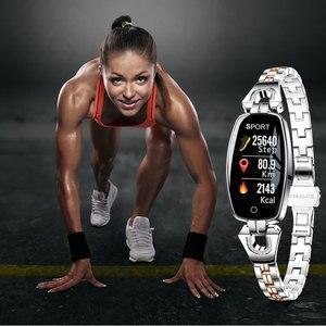 Image 3 - H8 femmes montre intelligente mode moniteur de fréquence cardiaque tension artérielle bande intelligente IP67 étanche Fitness activité Tracker dame bracelet