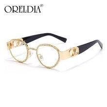 Gafas de sol de diamante redondas para hombre y mujer, lentes de sol de estilo Vintage con cristales ovalados, de madera, a la moda, con UV400, novedad de 2020