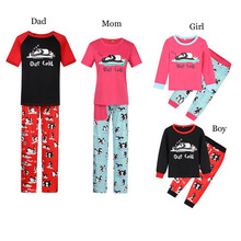 Family matching pajamas Cute Cartoon Penguin Printed Pajamas Winter christmas Mother Father Kids Matching Outfits E0257