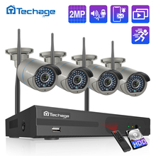 H.265 8CH 1080P 2MP Wireless NVR Sicherheit CCTV System Zwei wege Audio IR Outdoor WiFi IP Kamera P2P Video überwachung Kit 1TB HDD