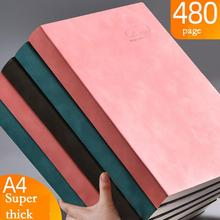 Notebook A4 Thickened Large Business Super Thick Grid Blank Grid Diary Notebooks And Journals Notebooks Pad Office Supplies