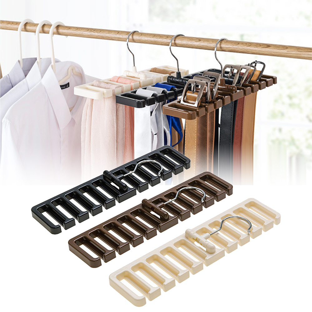 Multifunction Storage Rack Tie Belt Organizer Rotating Tie Hanger Holder Closet Organization Wardrobe Finishing Rack Space Saver