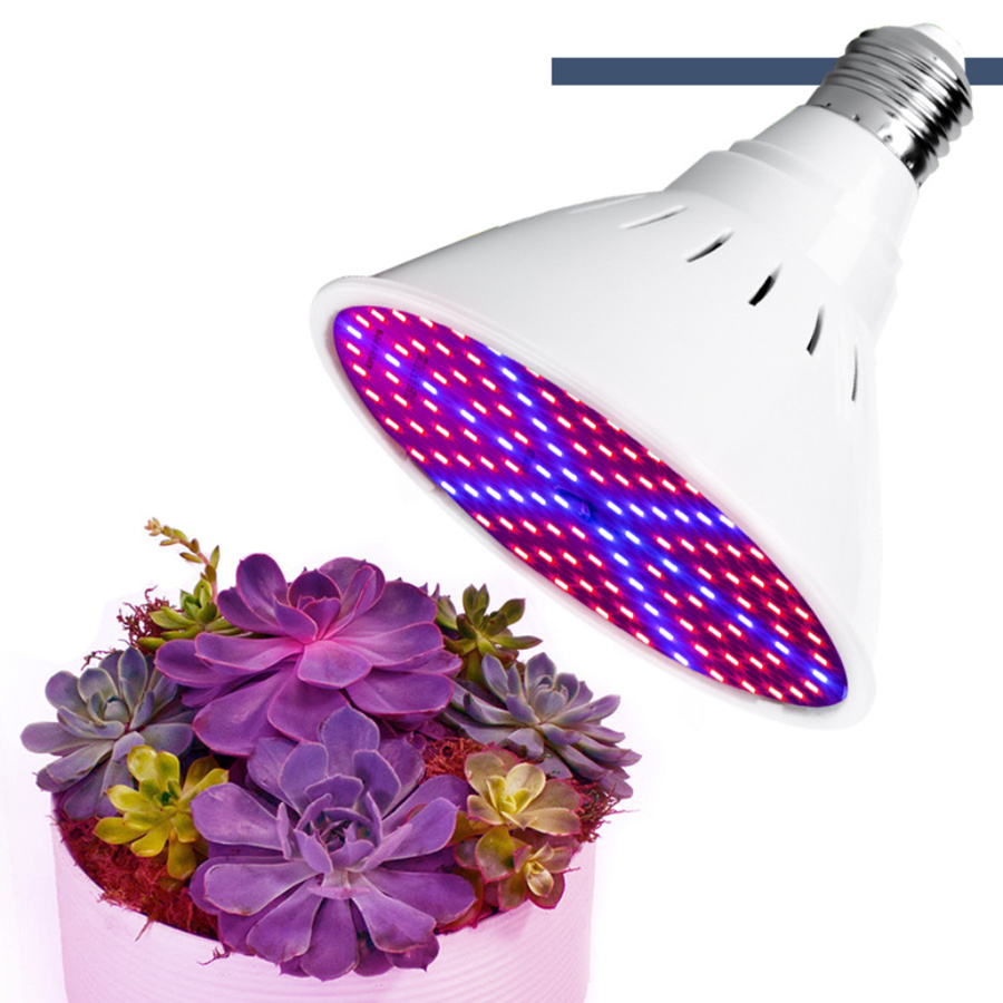 E27 Bulb Grower 200LED Grow Light Full Spectrum Hydroponics Grow Light Bulbs For Seedlings Flower Indoor Garden Grow Tent Lamp