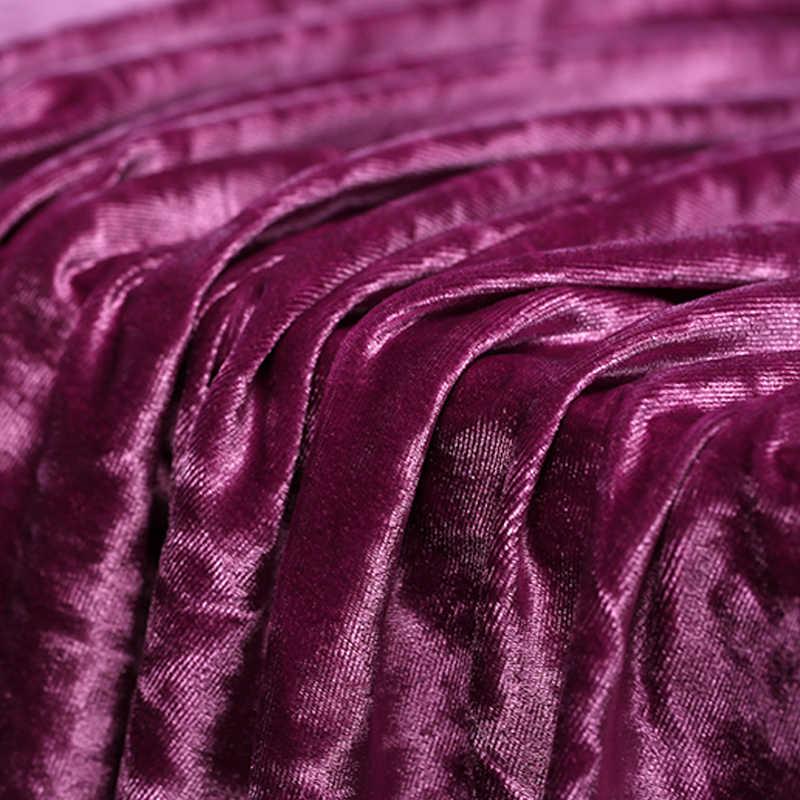 160cm ancho color sólido seda terciopelo tela Metro diamante patrón vestido seda tela brillante rayón tela venta al por mayor tela de seda