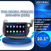 10Android 8.1 Car Stereo For HONDA FIT JAZZ 2007 2013 Right Hand Drive Car Head Unit Player GPS Navigation Radio WiFi 4G SWC FM