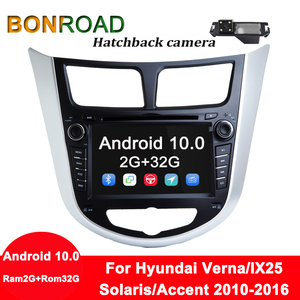 Image 5 - Bonroad אנדרואיד 10 Ram2G + Rom32G מולטימדיה לרכב נגן DVD לרכב עבור Solaris ורנה אקסנט 2010 2016 רכב GPS רדיו וידאו ניווט