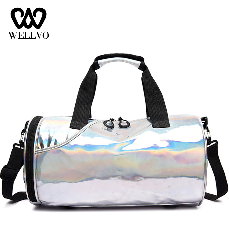 PU Travel Bag Women Organizer Weekend Bag Women Luggage Shoulder Bag Waterproof Dry Wet Separation Duffel Bags Bolsa XA751WB