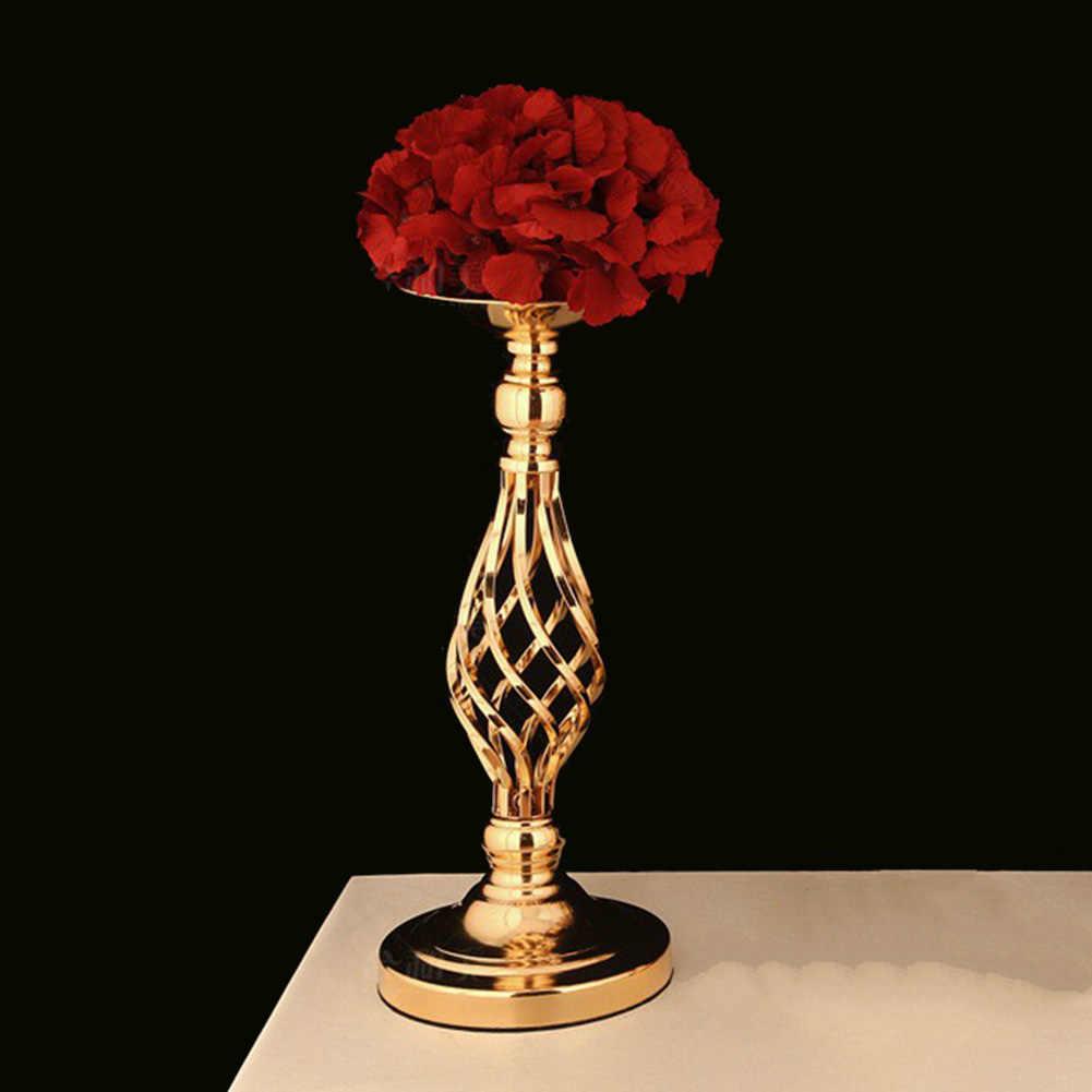 40 см железные художественные подсвечники подсвечник золотой цветок подсвечник канделябры вечерние свадебные украшения канделябры домашний декор