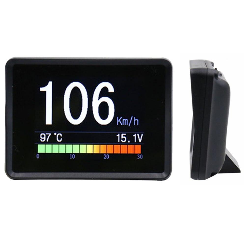 2.4 pouces pièces numériques 5 en 1 multifonction température de l'eau Auto accessoires voiture compteur vitesse tachymètre voltmètre odomètre
