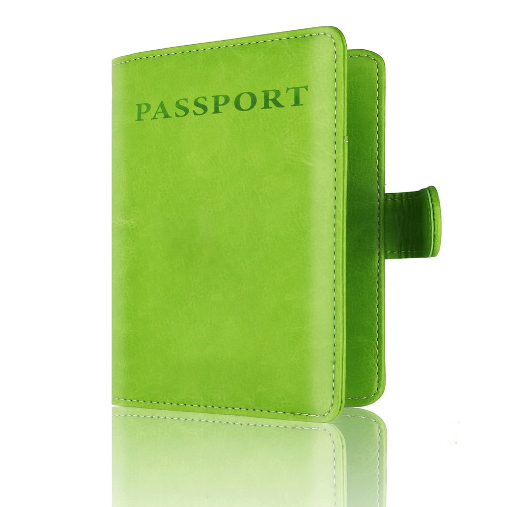 TOURSUIT Rfid Blocking Leather Travel Wallet Passport Holder Document Organizer Cover With Card Case Slots