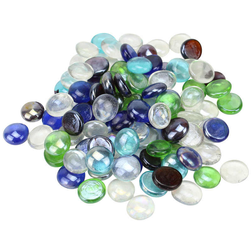 25 Stks Partij 1 8 Cm Glazen Aquarium Decoratie Stenen Nep Kristallen Gems Glas Stenen Vaas Decoratieve Steentjes Decorations Aliexpress