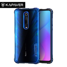 KAPAVER Original Transparent Phone Case for Xiaomi Redmi K20 / Pro Hard Back Soft TPU Frame Hybrid Bumper Protection