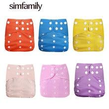 [Simfamily] 1pc novo reutilizável à prova dwaterproof água digital impresso fralda de pano do bebê ajustável fraldas de pano do bebê