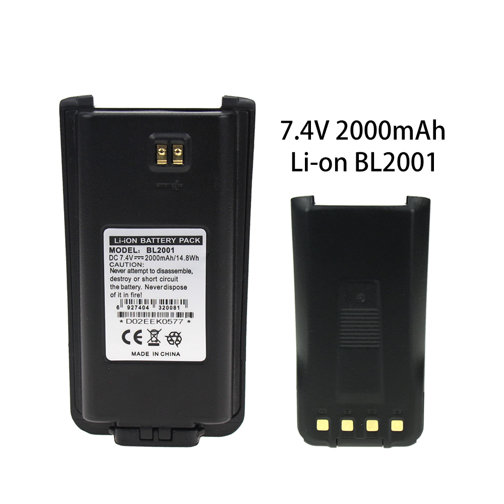 Replacement Lithium Ion Battery For HYT BL2001, TC610, TC620 BLI-BL2001 Two Way Radio