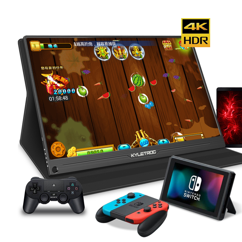 15.6 inch Full HD 4K IPS Portable gaming Screen monitor PC for PS3 PS4 Macbook 13.3 USB-C small mini Computer monitor image
