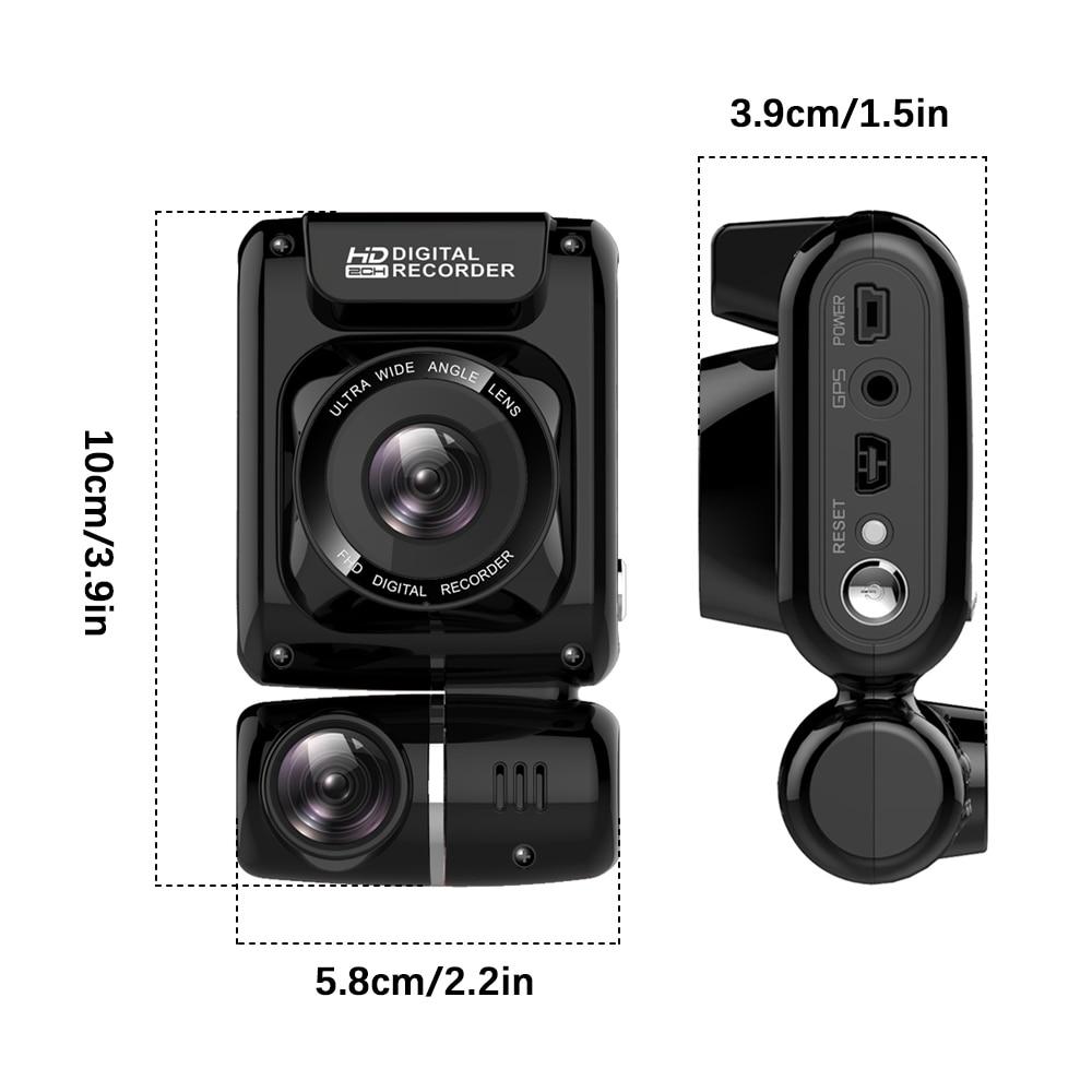 Mini escondido 4 k 2160 p carro dvr wifi gps registrador novatek 96663 chip sony imx323 sensor câmera dupla traço cam gravador - 6