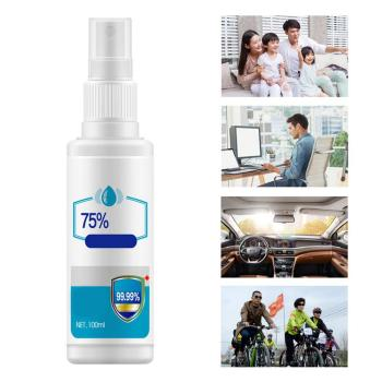 100ML Instant Disinfection Rine-free Hand Sanitizer Disinfection Antibacterial 75% Alcohol For Mobile Phones Hands