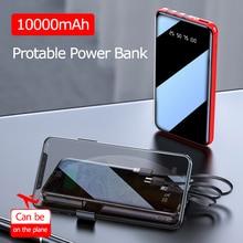 Portable 10000 MAh Power Bank Full Screen Built-in 3 USB Powerbank Fast Charging External Battery for all phone hcigar akso plus pod kit 850 mah built in battery