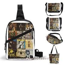 Funkcjonalne męska torba na klatkę piersiową torba na ramię Crossbody Tom Waits spinacz za darmo i bez rejestracji kolaż kobiety torby z paskiem saszetka biodrowa torba w klatce piersiowej torebka biodrowa