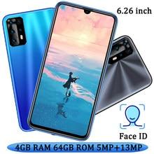Smartphone 9X Pro, téléphone portable avec caméra avant/arrière, écran de 6.26 pouces, 4 go de RAM, 64 go de ROM, reconnaissance faciale, Android 7.0, caméra de 13mp