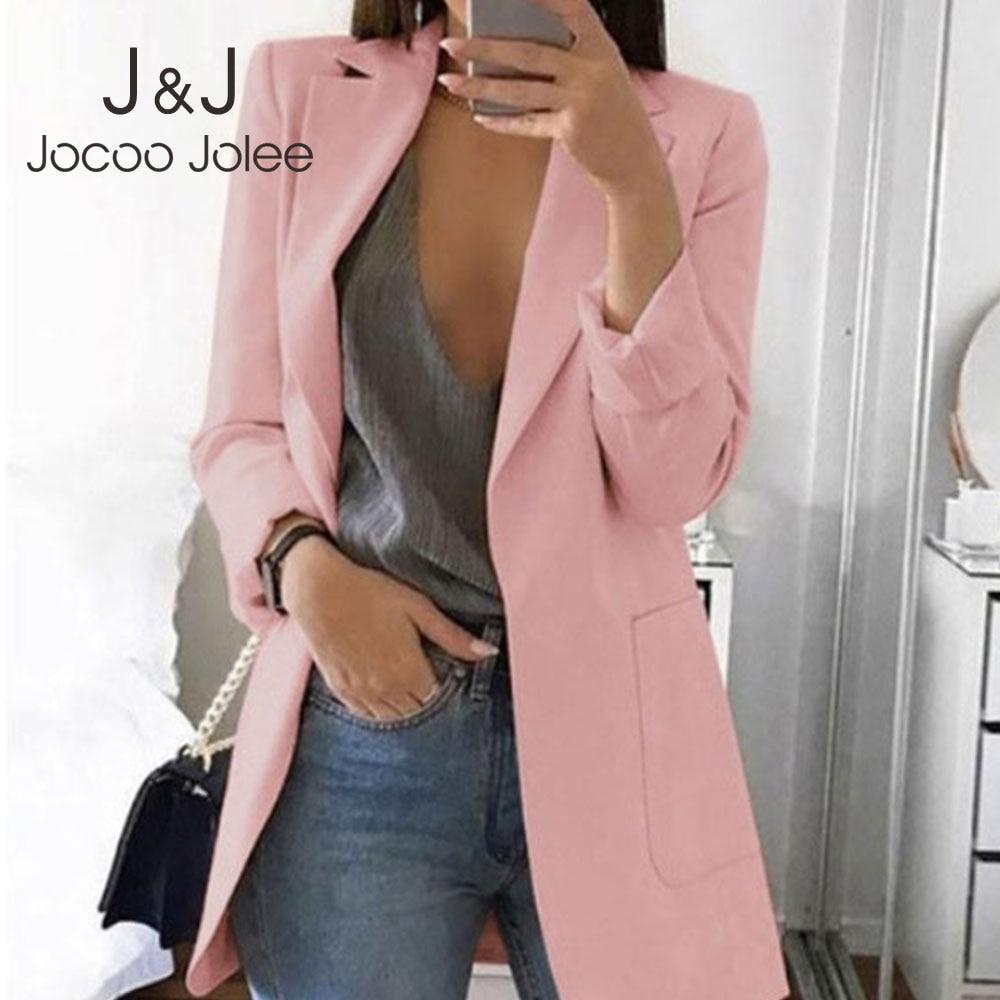 Jocoo Jolee Casual Slim Suit 2019 Women Fashion Elegant Jackets European Work OL Blazer Plus Size 5XL Lady Outwear Female Tops