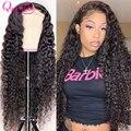 30 32 дюйма, вьющиеся человеческие волосы, глубокие волнистые фронтальные парики для черных женщин, бразильский, 13x6 HD, влажные и волнистые, глу...