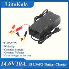Çıkış 14.6V 10A 12V 10A Lifepo4 pil şarj cihazı ab abd Plug ile klipleri şarj DC adaptör girişi 100 240V klip kafa
