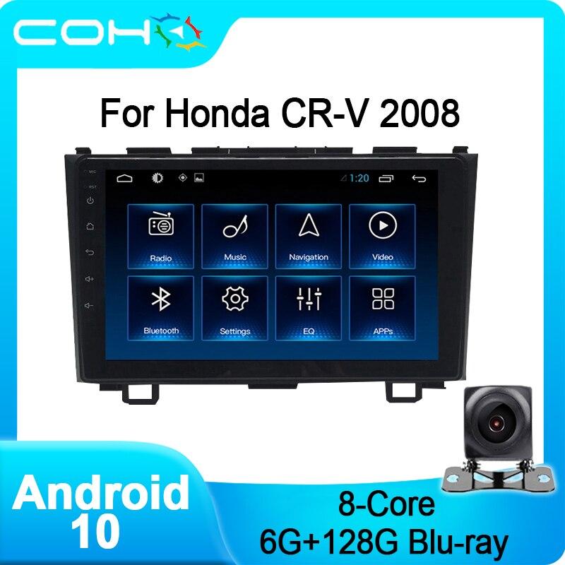 COHO для Honda Crv CR-V 2008 Авто Радио стерео автомобильный мультимедийный плеер Android 10,0 Octa Core 6 + 128G