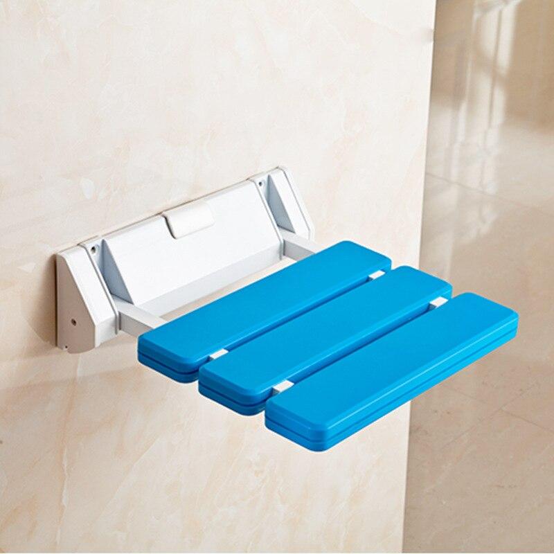 K-STAR Wall Mounted Shower Seats For Elderly Child Durable Aluminum Alloy Folding Stool Bathroom Stool Change Shoe Seat