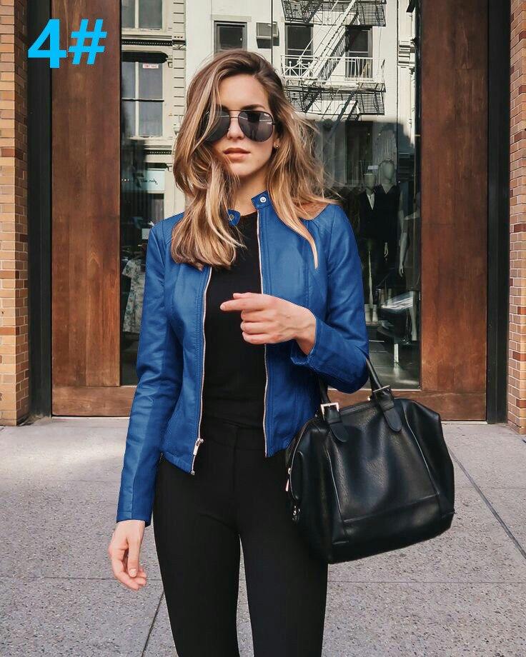 H358cfc69d0a248ce8a4a709e897cddd54 2021 Women Winter Coat Jacket Thicken Fashion Long sleeve Outwear PU Leather Jacket warm Coats For Women Autumn Women's Clothing